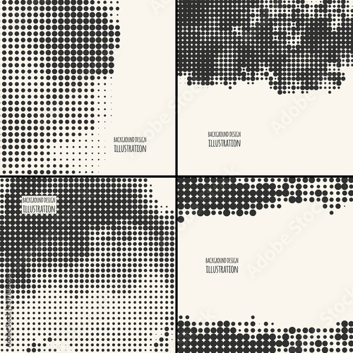 abstract grunge halftone dot texture set Tapéta, Fotótapéta