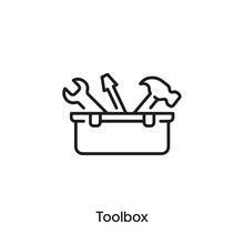 Toolbox Icon Vector. Toolbox Icon Vector Symbol Illustration. Modern Simple Vector Icon For Your Design. Toolbox Icon Vector