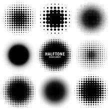 Circle Halftone Design Element...