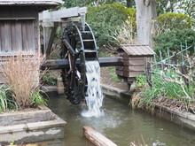 水車 風景 水流 和風 日本