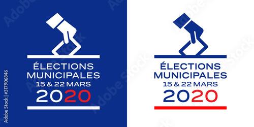 Obraz na plátně Elections municipales / bannière