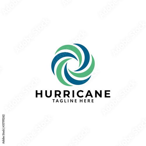 hurricane logo icon vector isolated Wallpaper Mural