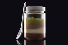 Milk Creamy Dessert In Jar Wit...