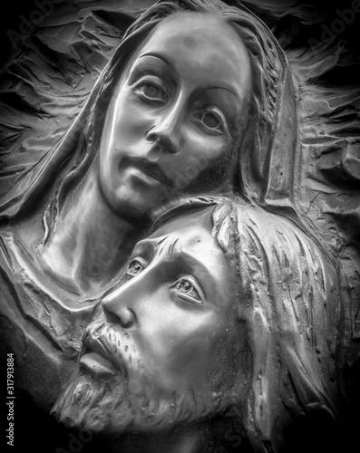 Carta da parati Jesus and Mary