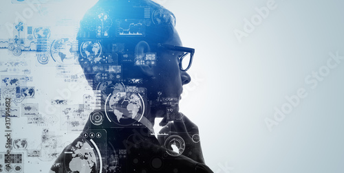Photo ai, analysis, artificial intelligence, automation, big data, brain, business, cg