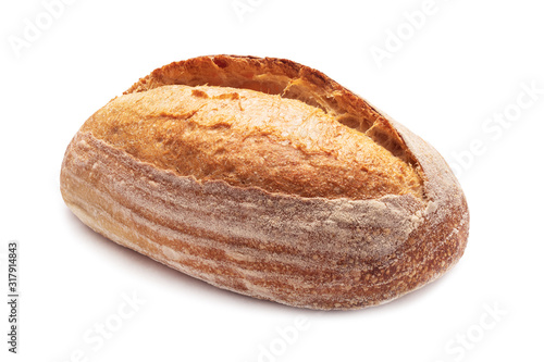 Tasty crunchy crust bread isolated on white background Fototapeta