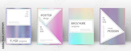Flyer layout. Stylish popular template for Brochur Wallpaper Mural