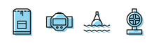 Set Line Floating Buoy On The ...
