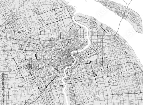 Fototapeta map of the city of Shanghai, China