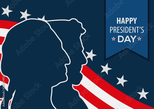 President's Day celebration design template. Tableau sur Toile