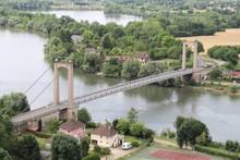 High Angle Shot Of A Bridge At Port Morin In France