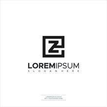 EZ E Z Letter Logo Design In B...