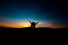 Hunters And Rifle Silhouette W...