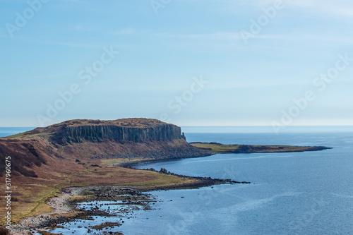 Cliffs and beach on Isle of Arran, Scotland Canvas Print