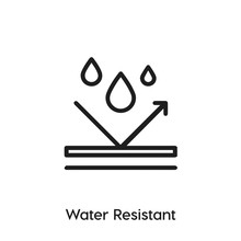 Water Resistant Icon Vector. Water Resistant Icon Vector Symbol Illustration. Modern Simple Vector Icon For Your Design. Water Resistant Icon Vector