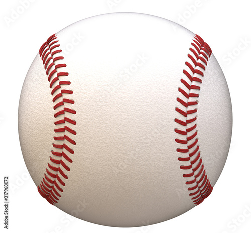 Photo Baseball isolated on white background