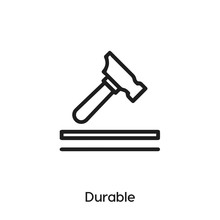 Durable Icon Vector. Durability Icon Vector Symbol Illustration. Modern Simple Vector Icon For Your Design. Blacksmith Icon Vector