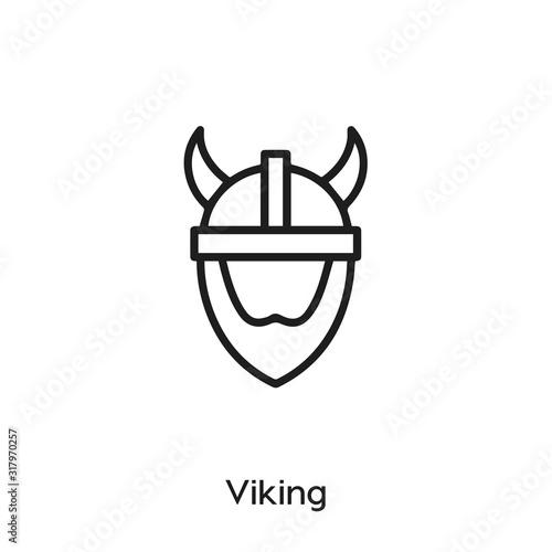 viking icon vector Canvas Print