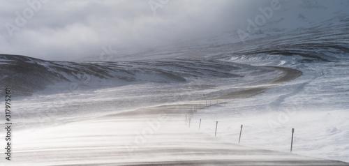 Dempster Highway, Northwest Territories in winter. Canvas-taulu
