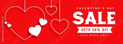 elegant line style valentines day sale banner - 317995220