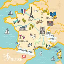 France - Hand Drawn Illustrati...