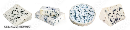 Fotografia French and Italian blue-veined cheeses