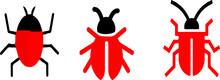 Bug Icon Isolated On Background