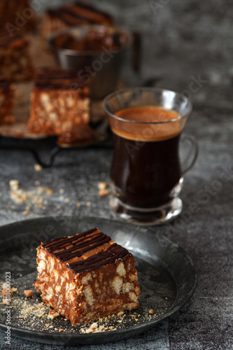 Russian anthill cake with chocolate Wallpaper Mural