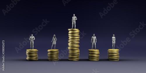 Obraz na plátně Economic Inequality