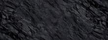 Black Grunge Background. Abstract Stone Background. Beautiful Mountain Texture. Stone Grunge Banner. Dark Gray Stone Background.