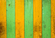 Yellow and green colored wood walls