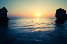 Seascape Of Still Sea Waters S...