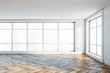 canvas print picture Panoramic empty white room interior