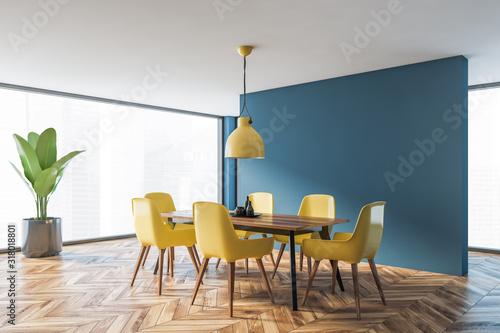 Fotomural Minimalistic blue dining room corner