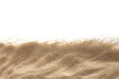 canvas print picture - The sand isolated on white background. Flat lay top view. Copy space.