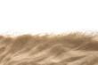 Leinwandbild Motiv The sand isolated on white background. Flat lay top view. Copy space.