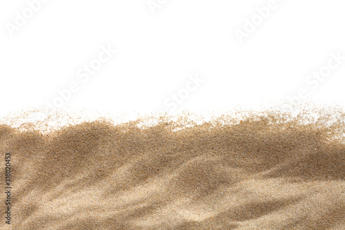 The sand isolated on white background Wallpaper Mural