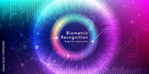 Photo Biometric recognition background