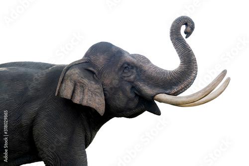 Fotografía Thailand elephant statue isolated on white background