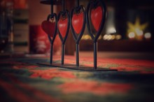 Close-Up Of Heart Shape Decoration On Table