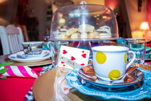 Colorful Tea Party With Table ...