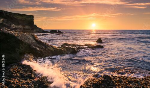 Obraz Sonnenuntergang bei La Pared auf Fuerteventura - fototapety do salonu
