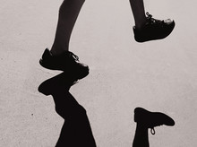 Child Feet And Shadows