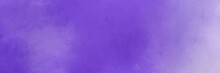 Horizontal Multicolor Painting Background Texture With Slate Blue, Light Pastel Purple And Medium Purple Colors. Free Space For Text Or Graphic