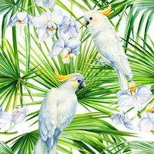 Tropical Seamless Pattern, Pal...