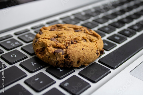 Photo Cookie on the keyboard