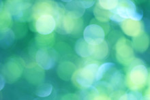 Abstract Blue Green Bokeh Background