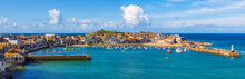 Panoramic View Of St Ives, Cor...