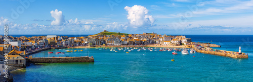 Fototapeta Panoramic view of St Ives, Cornwall, England obraz