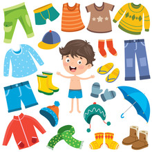 Colorful Clothes For Little Children